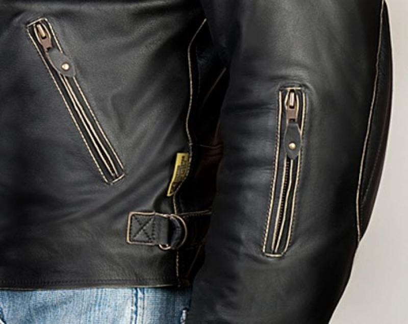 Pánská kožená moto bunda RUSTY - pánská kožená retro bunda   Pánské ... 3a12999b68