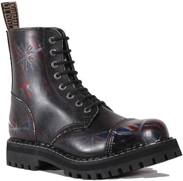 STEEL BOOTS 8 dírkové Steel Boots UK Black stíraná   STEEL 8 dírkové    Eshop Kozenyobchod.cz 52426cffe8