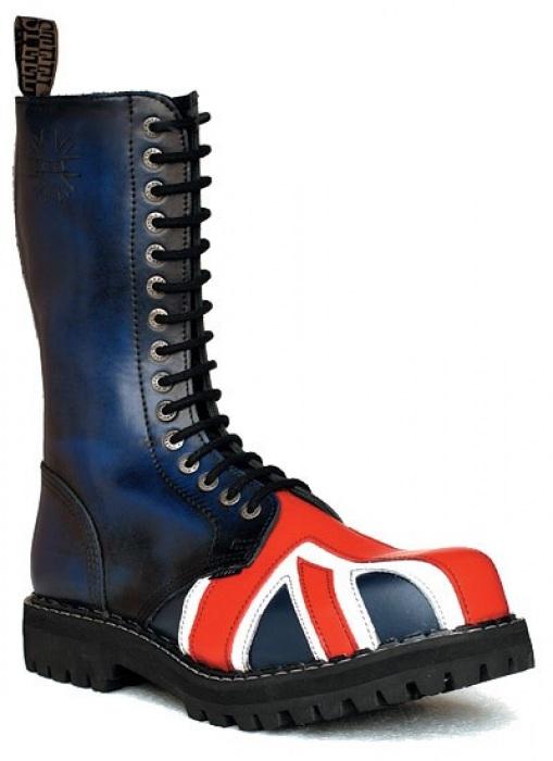 STEEL BOOTS 15 dírkové Steel Boots Britská vlajka   STEEL 15 dírkové    Eshop Kozenyobchod.cz 4c6afcab41
